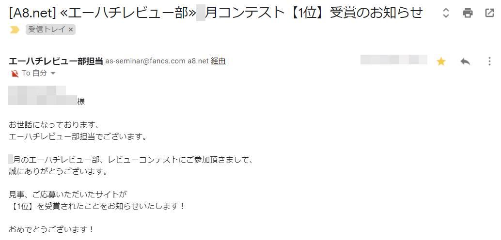 A8.netのコンテスト受賞歴