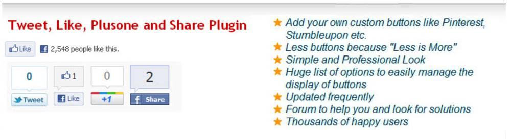 SNSシェアボタン設置系プラグイン