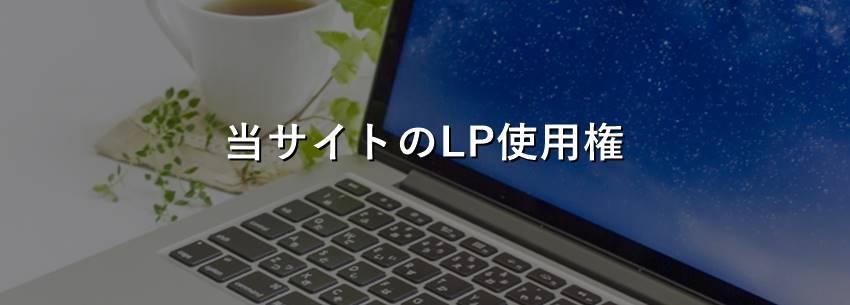 限定特典2:当サイトのLP使用権