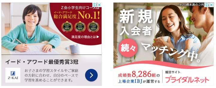 ダブルレクタングル広告のイメージ