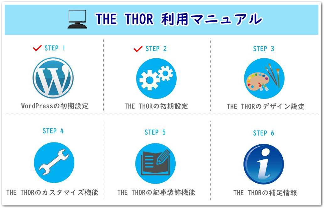 THE THOR(ザ・トール)の初期設定